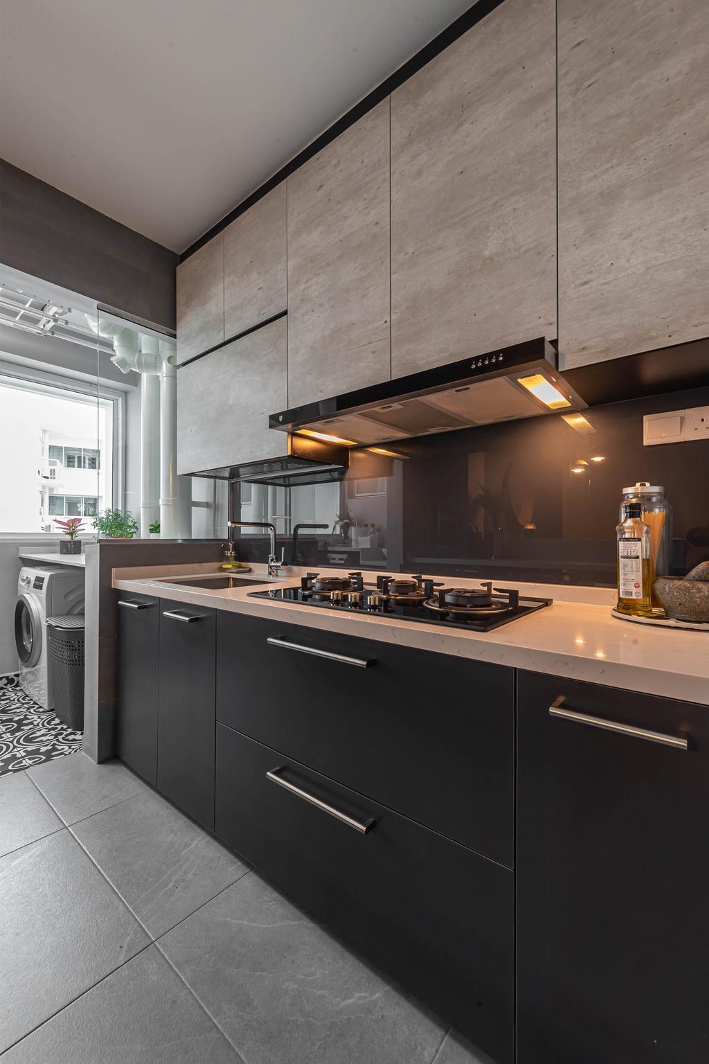Contemporary, HDB, Kitchen, Edgefield Plains, Interior Designer, Swiss Interior Design