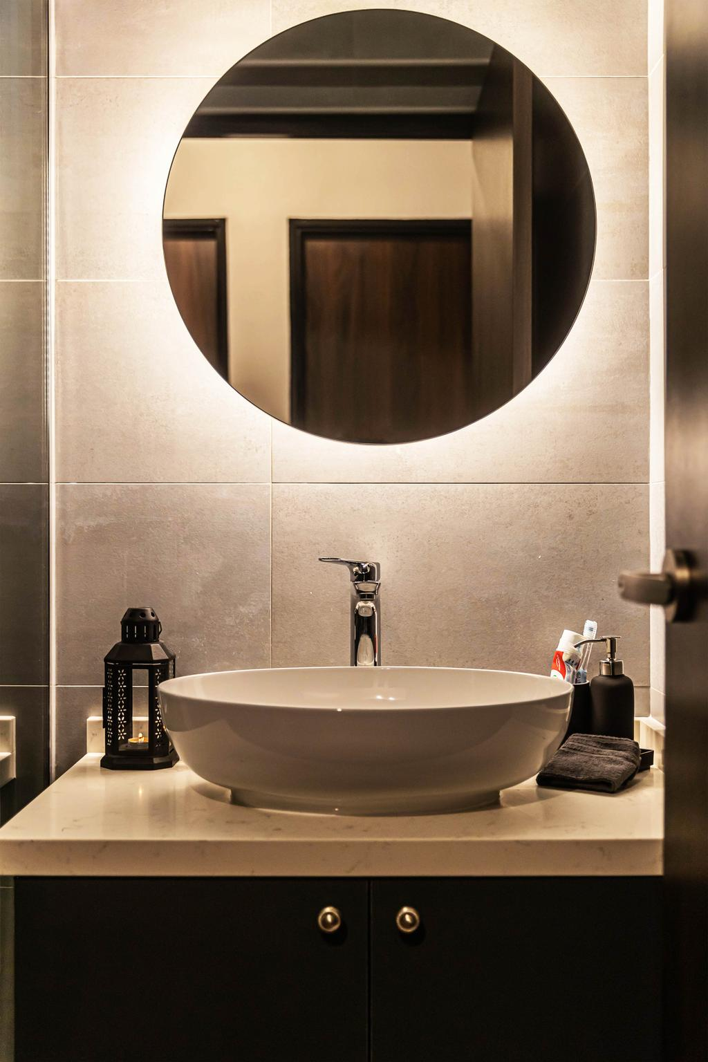 Contemporary, HDB, Bathroom, Edgefield Plains, Interior Designer, Swiss Interior Design