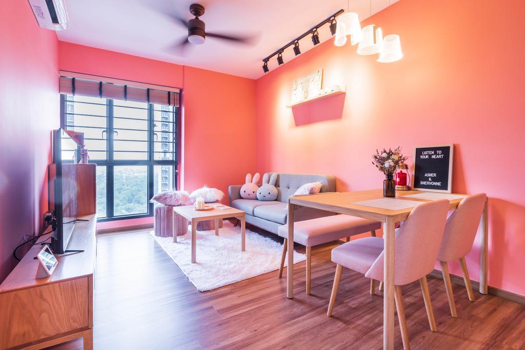 Contemporary, HDB, Living Room, Skyterrace @ Dawson, Interior Designer, The Wooden Platform