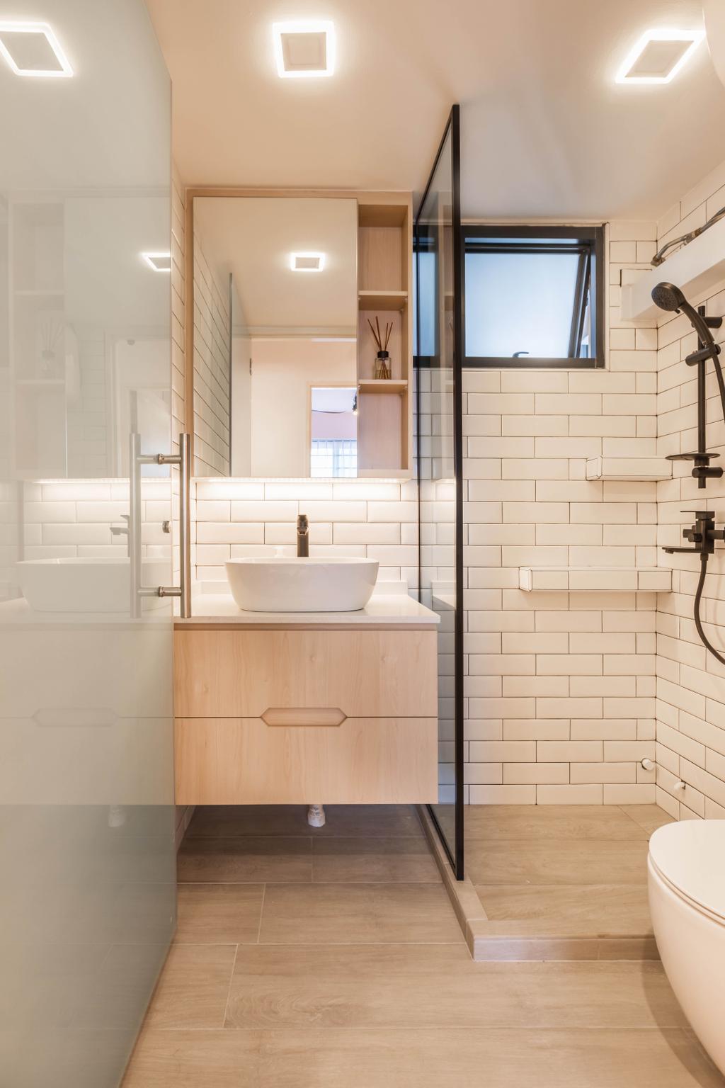 Contemporary, HDB, Bathroom, Skyterrace @ Dawson, Interior Designer, The Wooden Platform