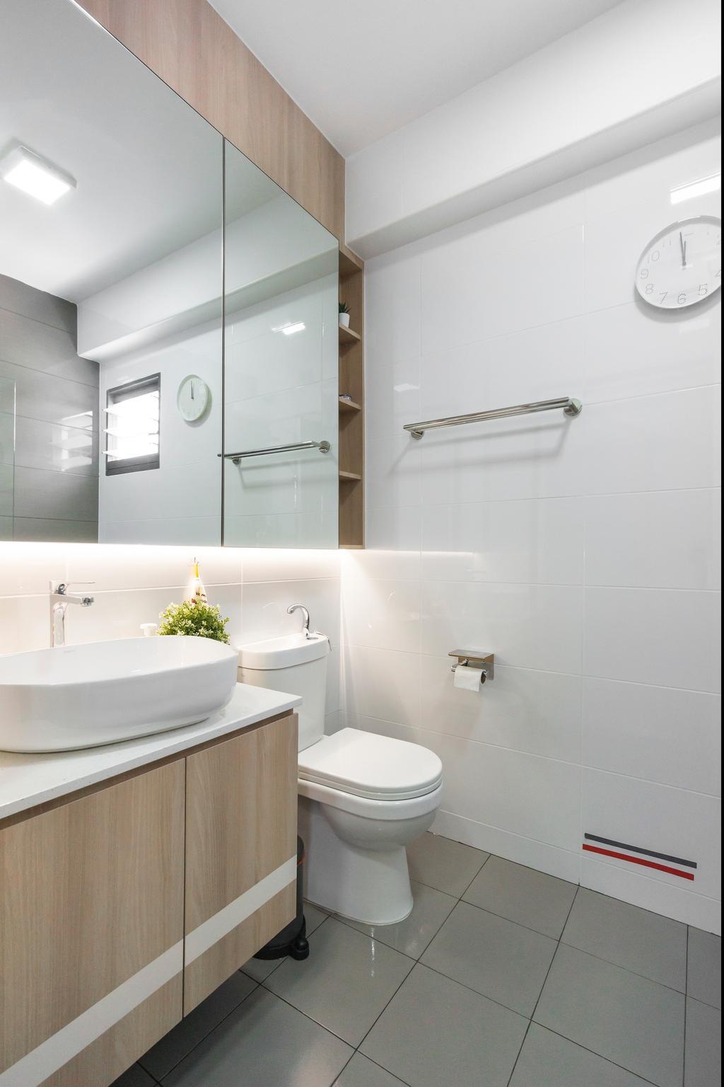 Modern, HDB, Bathroom, Yishun Street 44, Interior Designer, Flo Design