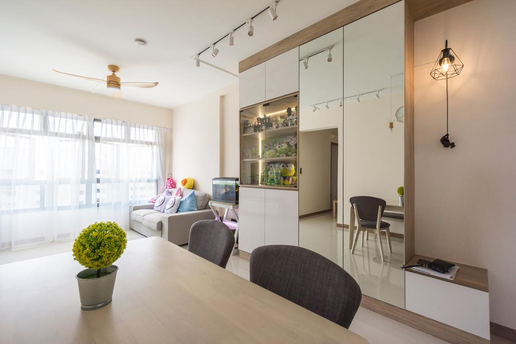Modern, HDB, Living Room, Yishun Street 44, Interior Designer, Flo Design