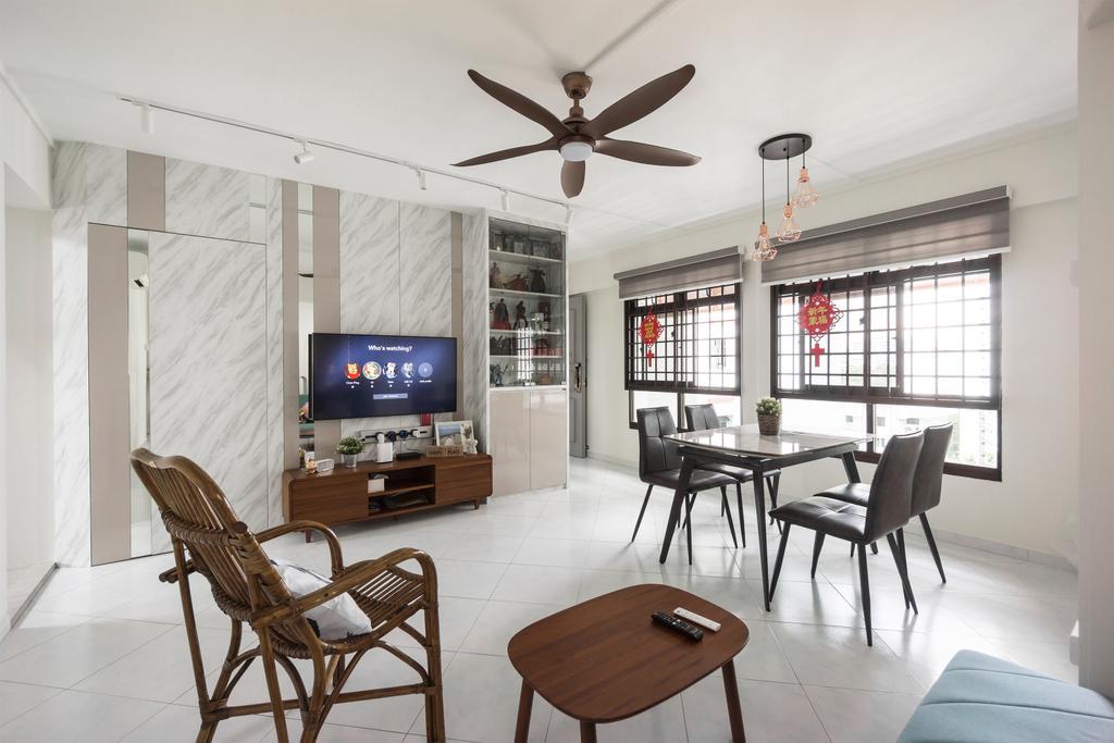 Modern, HDB, Living Room, Kim Tian Road, Interior Designer, Flo Design