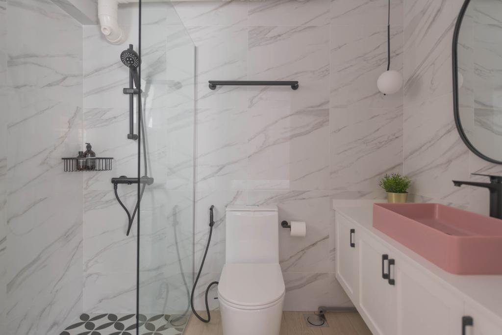 Scandinavian, HDB, Bathroom, Bishan Street 22, Interior Designer, Urban Home Design 二本設計家