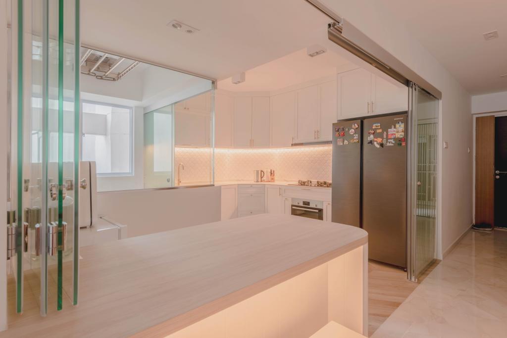 Scandinavian, HDB, Kitchen, Bishan Street 22, Interior Designer, Urban Home Design 二本設計家