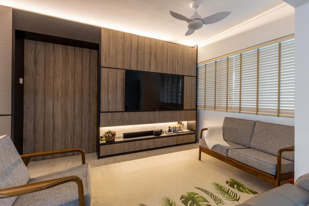 Modern, HDB, Living Room, Queen's Close, Interior Designer, Sozo Concept Studio, Scandinavian