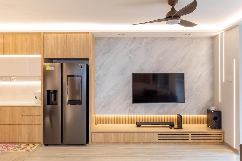 Modern, HDB, Kitchen, Jurong West Street 73, Interior Designer, 360 Interior, Contemporary