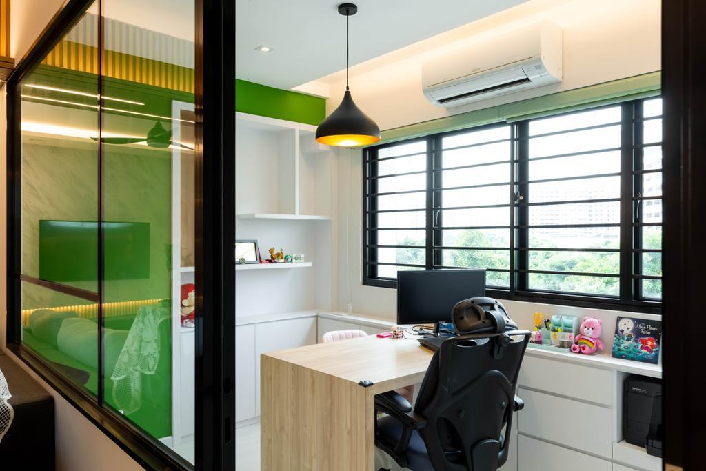 Modern, HDB, Study, Jurong West Street 73, Interior Designer, 360 Interior, Contemporary