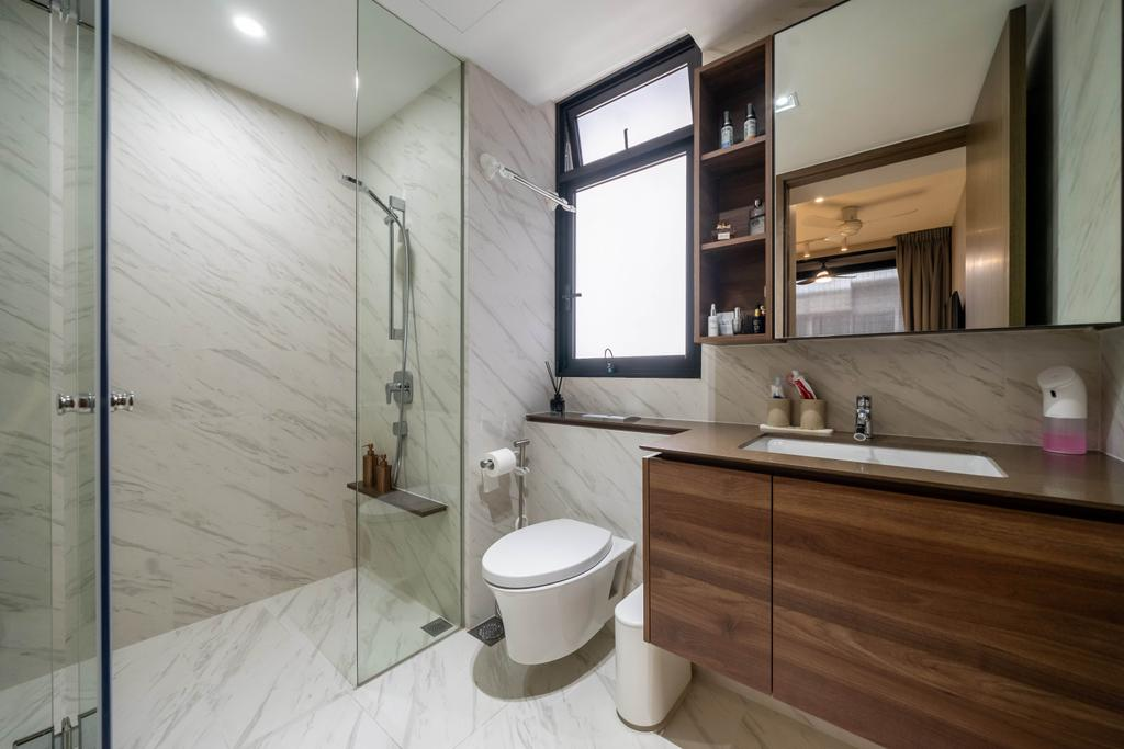 Modern, Condo, Bathroom, Le Quest, Interior Designer, Design 4 Space