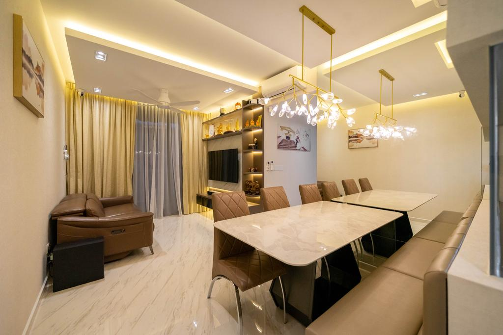 Modern, Condo, Living Room, Le Quest, Interior Designer, Design 4 Space