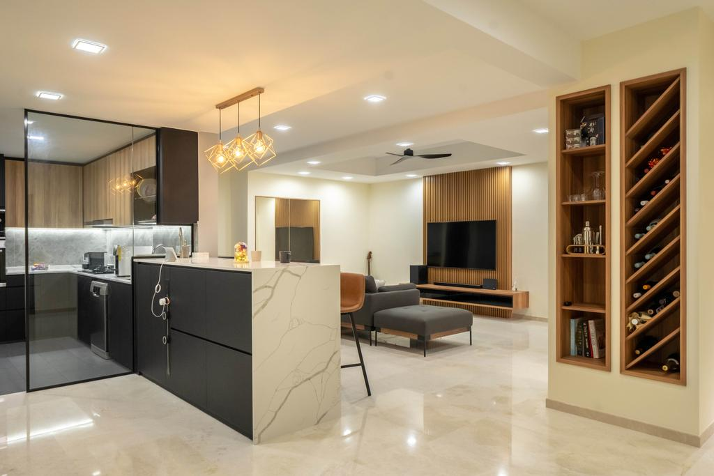Modern, Condo, Living Room, Grande Vista, Interior Designer, Design 4 Space, Contemporary