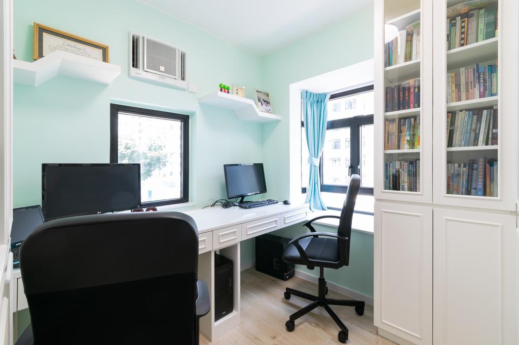 摩登, 私家樓, 書房, 杏花邨, 室內設計師, 現時設計