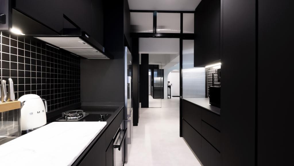 Modern, HDB, Kitchen, Bidadari Park Drive, Interior Designer, Carpenter Direct, Industrial
