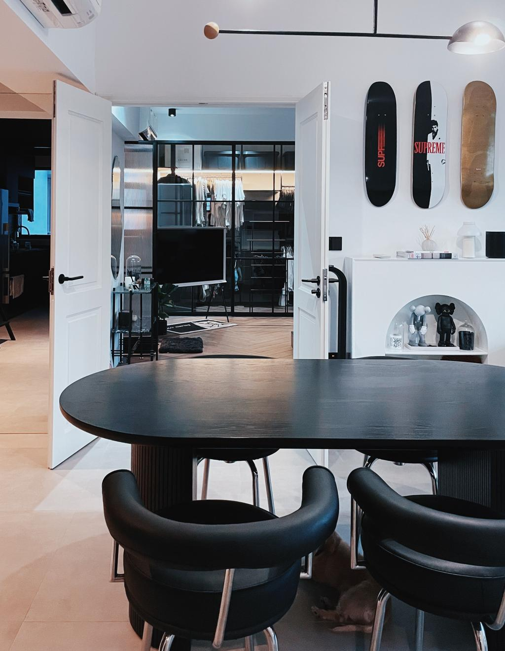 Modern, HDB, Dining Room, Bidadari Park Drive, Interior Designer, Carpenter Direct, Industrial