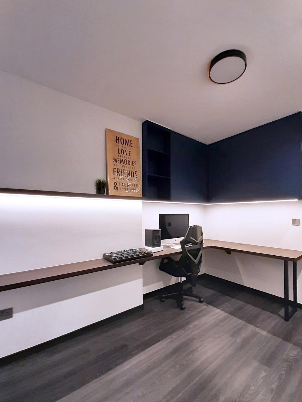 Contemporary, HDB, Study, Woodlands Street 13, Interior Designer, Hansel Studio