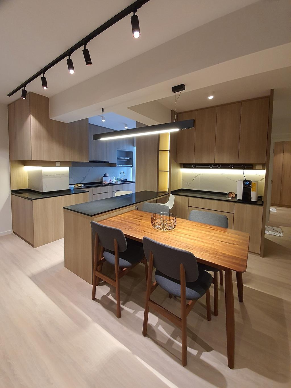 Contemporary, HDB, Kitchen, Northshore Drive, Interior Designer, Hansel Studio, Scandinavian