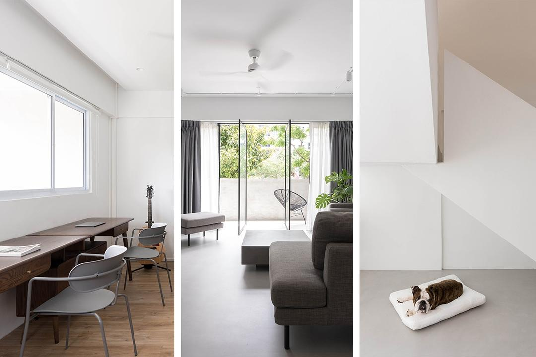 '80s Maisonette Turned Into a Minimalist White Haven for Two 19