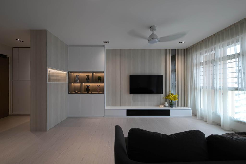 Modern, HDB, Living Room, Punggol Drive, Interior Designer, Space Atelier, Contemporary