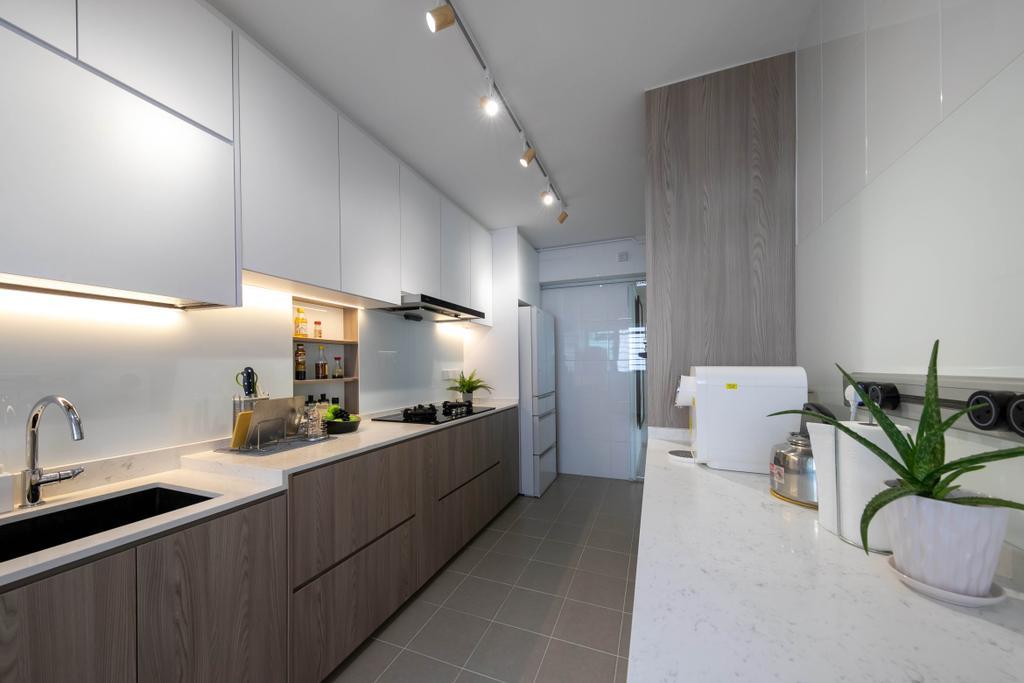 Modern, HDB, Kitchen, Punggol Drive, Interior Designer, Space Atelier, Contemporary