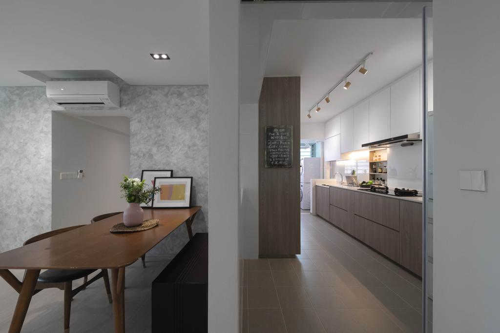 Modern, HDB, Dining Room, Punggol Drive, Interior Designer, Space Atelier, Contemporary
