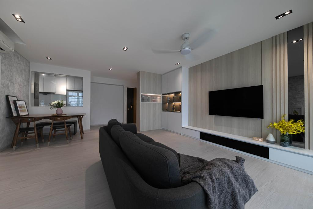 Modern, HDB, Living Room, Punggol Drive, Interior Designer, Space Atelier, Contemporary