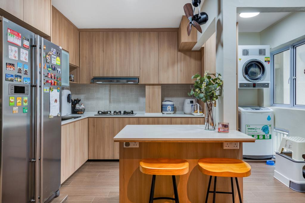 Scandinavian, HDB, Kitchen, Woodlands Street 81, Interior Designer, Vika Design Lab, Industrial