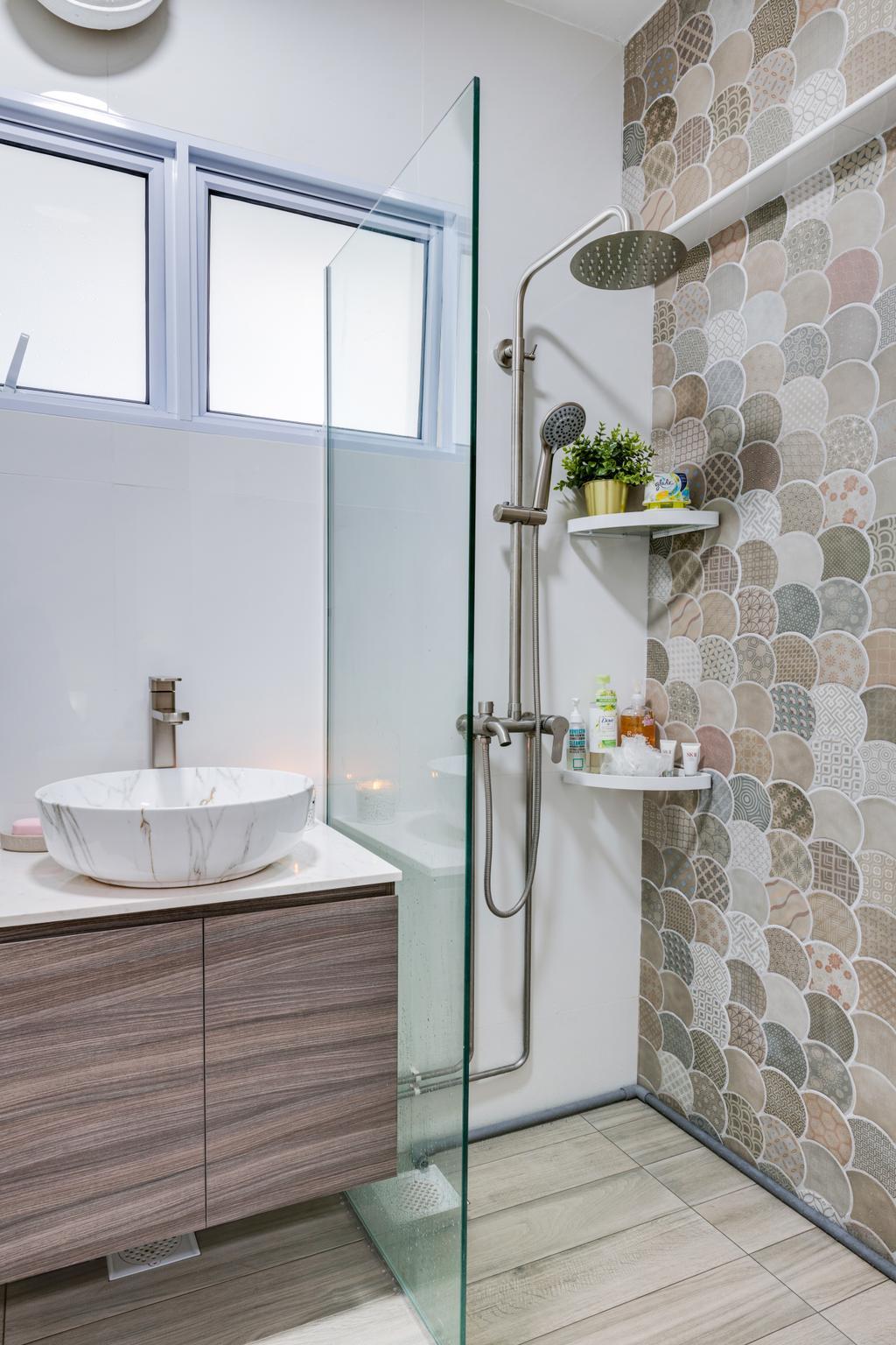 Scandinavian, HDB, Bathroom, Woodlands Street 81, Interior Designer, Vika Design Lab, Industrial