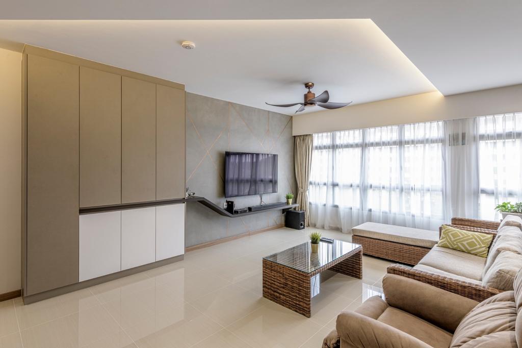 Modern, HDB, Living Room, Sengkang West Road, Interior Designer, Vika Design Lab