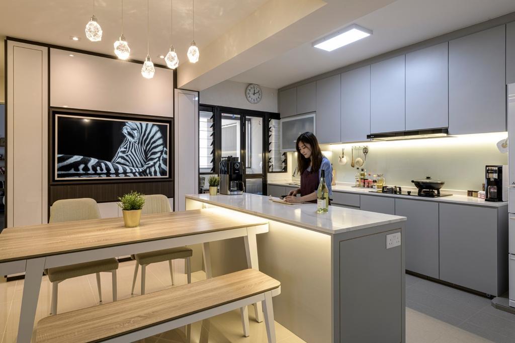 Modern, HDB, Dining Room, Sengkang West Road, Interior Designer, Vika Design Lab