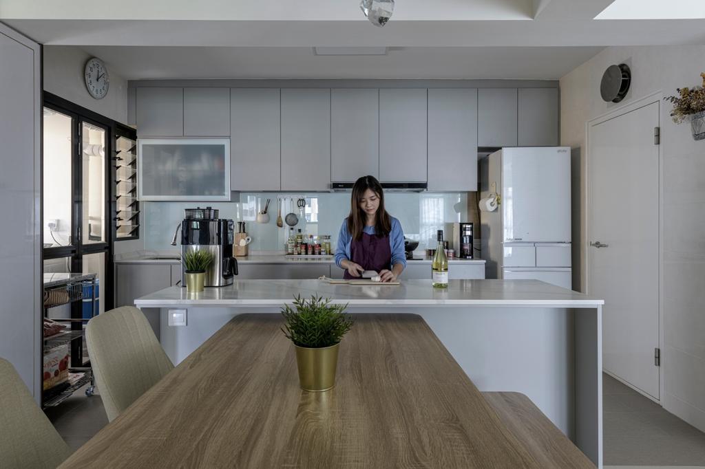 Modern, HDB, Kitchen, Sengkang West Road, Interior Designer, Vika Design Lab