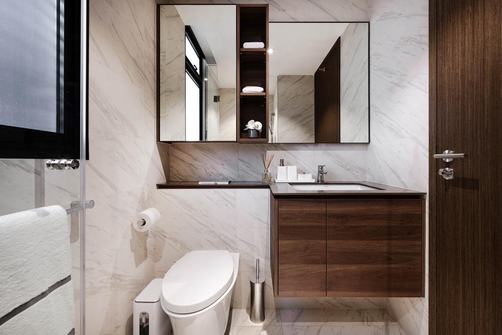 Modern, Condo, Bathroom, Le Quest, Interior Designer, Mr Shopper Studio, Contemporary