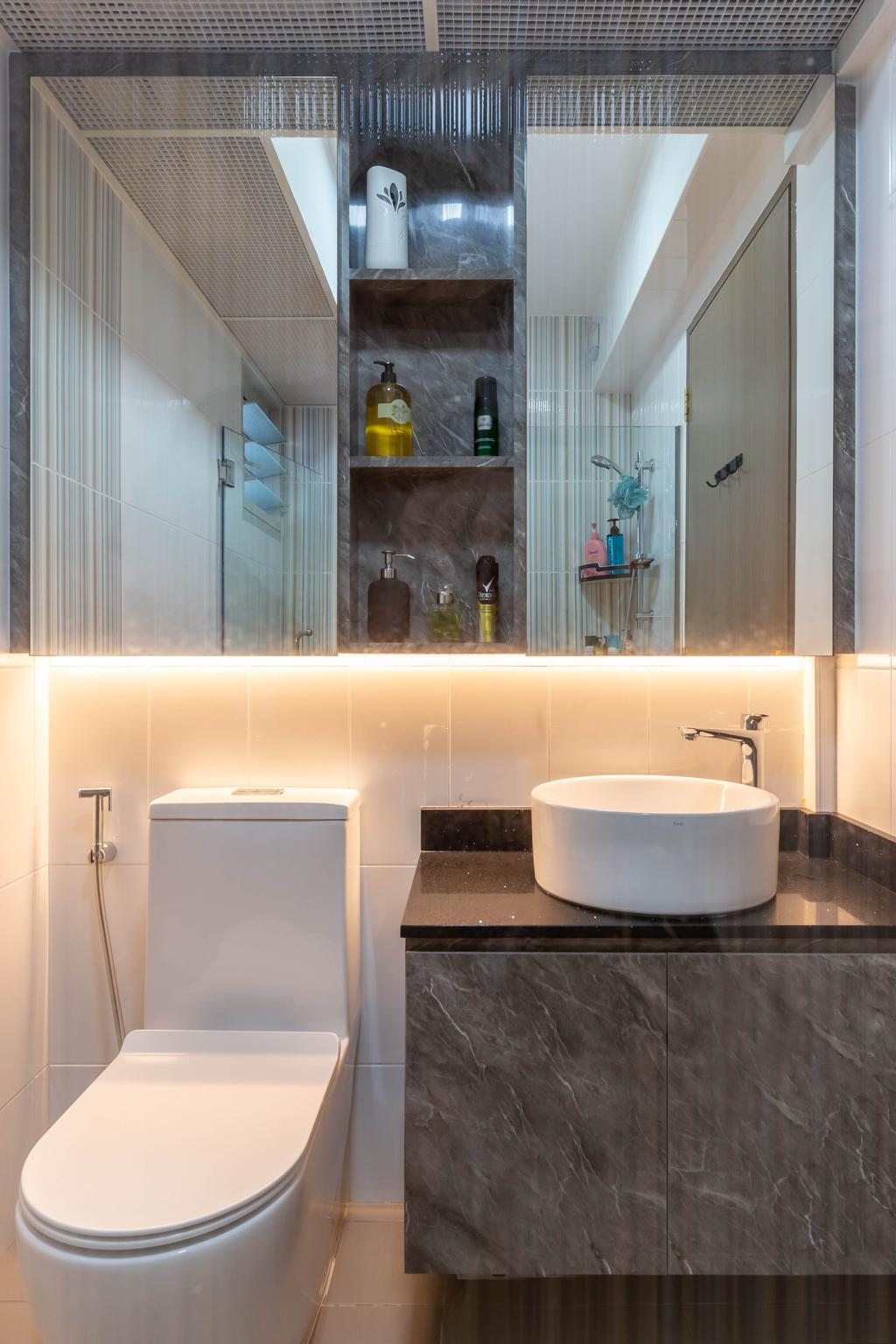 Modern, HDB, Bathroom, Sumang Walk, Interior Designer, Des & Co Interior