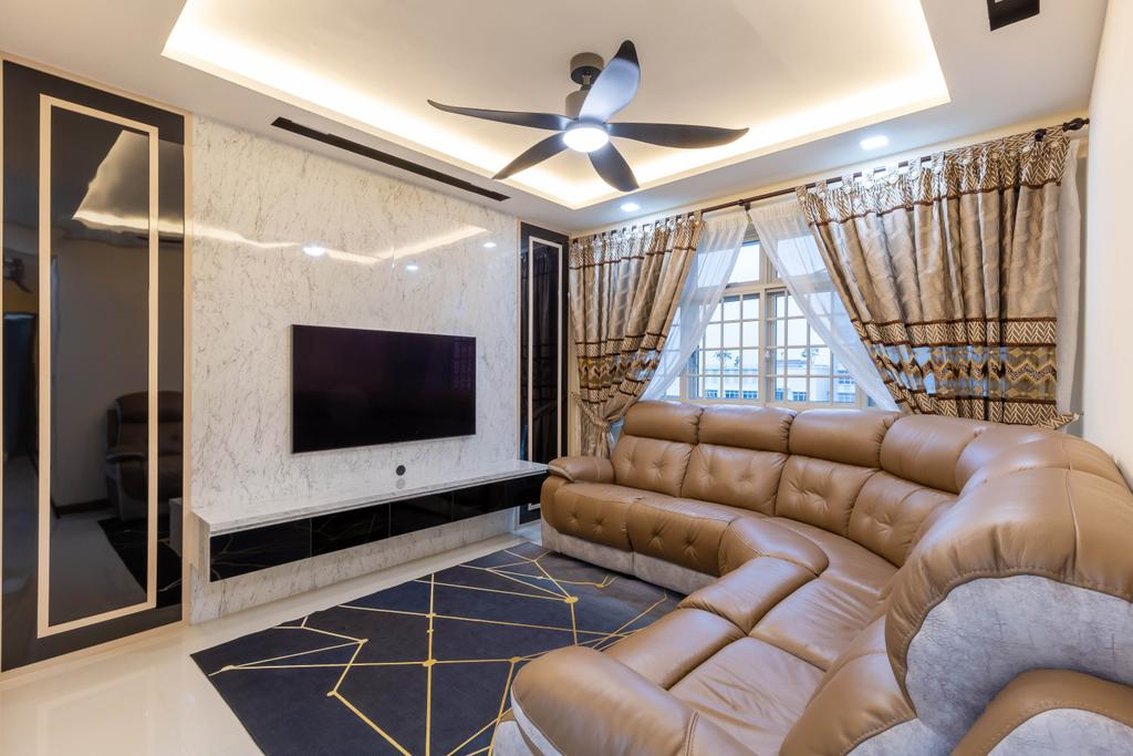 Modern, HDB, Living Room, Sumang Walk, Interior Designer, Des & Co Interior