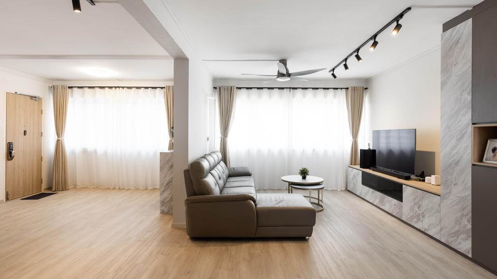Modern, HDB, Living Room, Tampines Avenue 4, Interior Designer, U-Home Interior Design, Scandinavian
