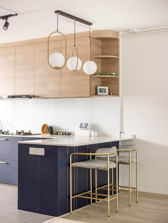 Modern, HDB, Kitchen, Tampines Avenue 4, Interior Designer, U-Home Interior Design, Scandinavian
