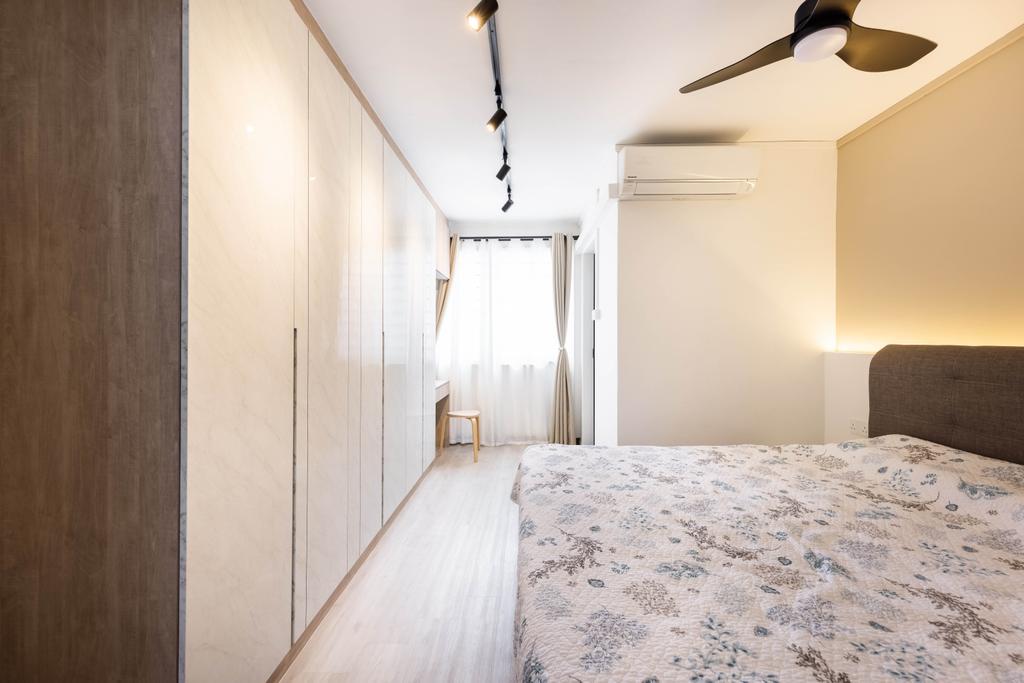Modern, HDB, Bedroom, Tampines Avenue 4, Interior Designer, U-Home Interior Design, Scandinavian