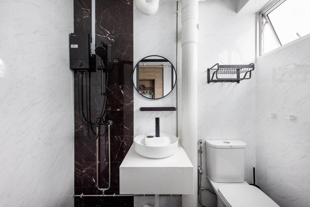Modern, HDB, Bathroom, Tampines Avenue 4, Interior Designer, U-Home Interior Design, Scandinavian