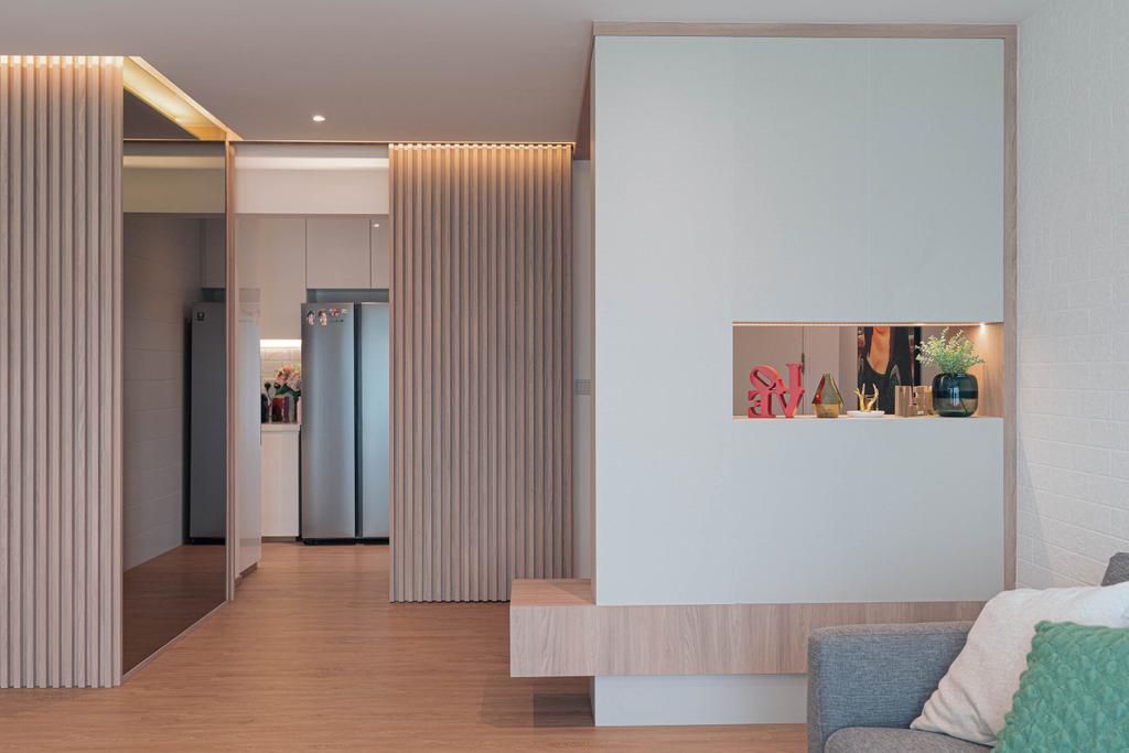 Contemporary, HDB, Living Room, Upper Serangoon, Interior Designer, Artmuse Interior, Scandinavian