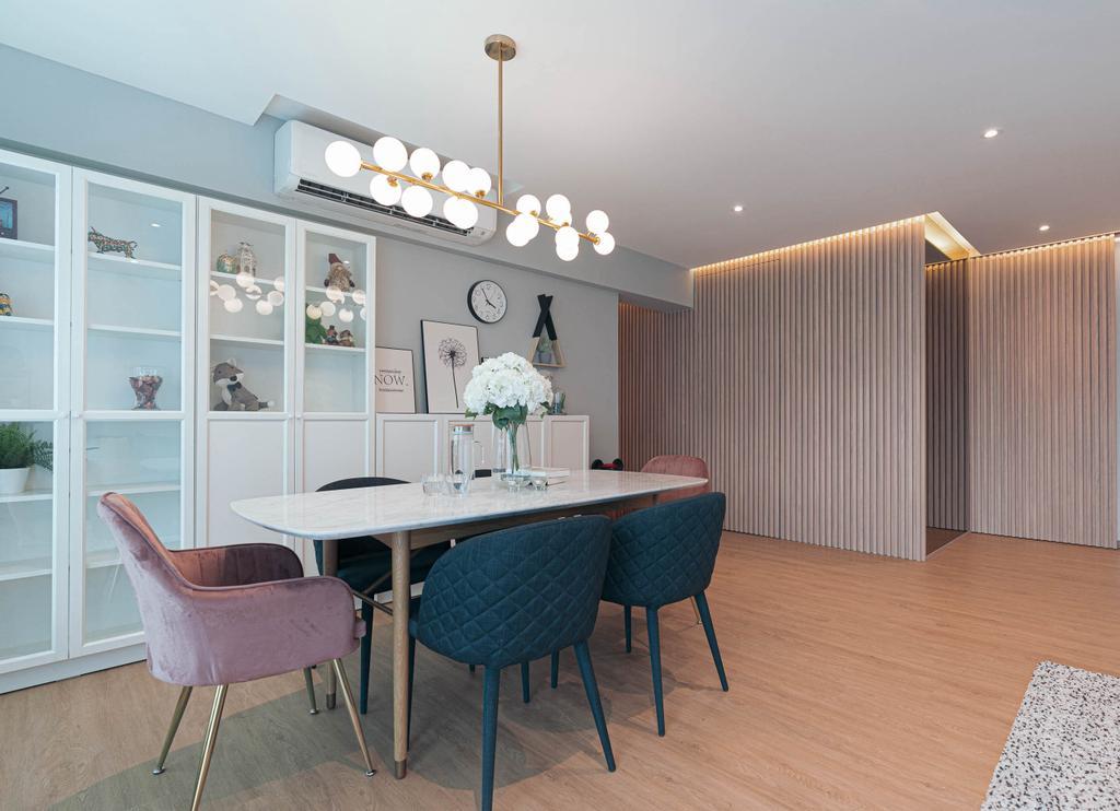 Contemporary, HDB, Dining Room, Upper Serangoon, Interior Designer, Artmuse Interior, Scandinavian
