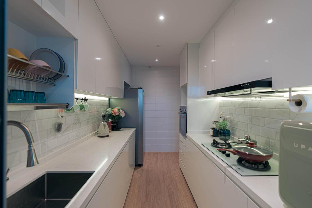 Contemporary, HDB, Kitchen, Upper Serangoon, Interior Designer, Artmuse Interior, Scandinavian