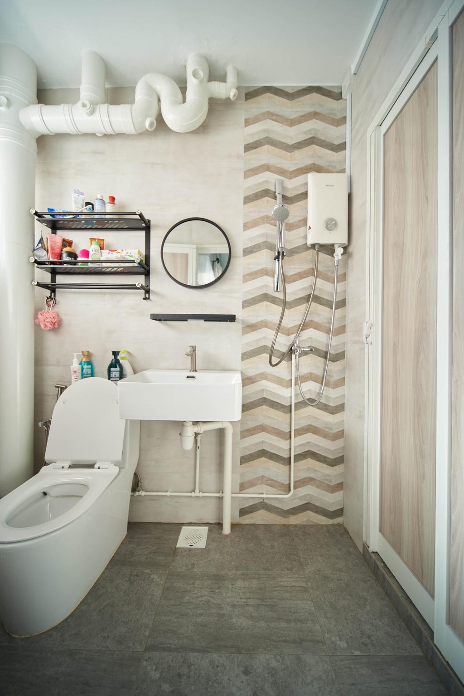 Modern, HDB, Bathroom, Tampines Avenue 7, Interior Designer, Le Interior Affairs, Contemporary