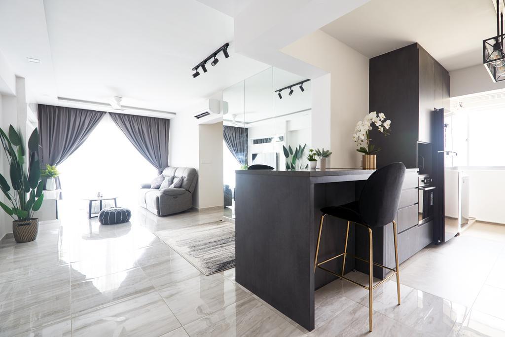 Contemporary, HDB, Living Room, Punggol Central, Interior Designer, Le Interior Affairs
