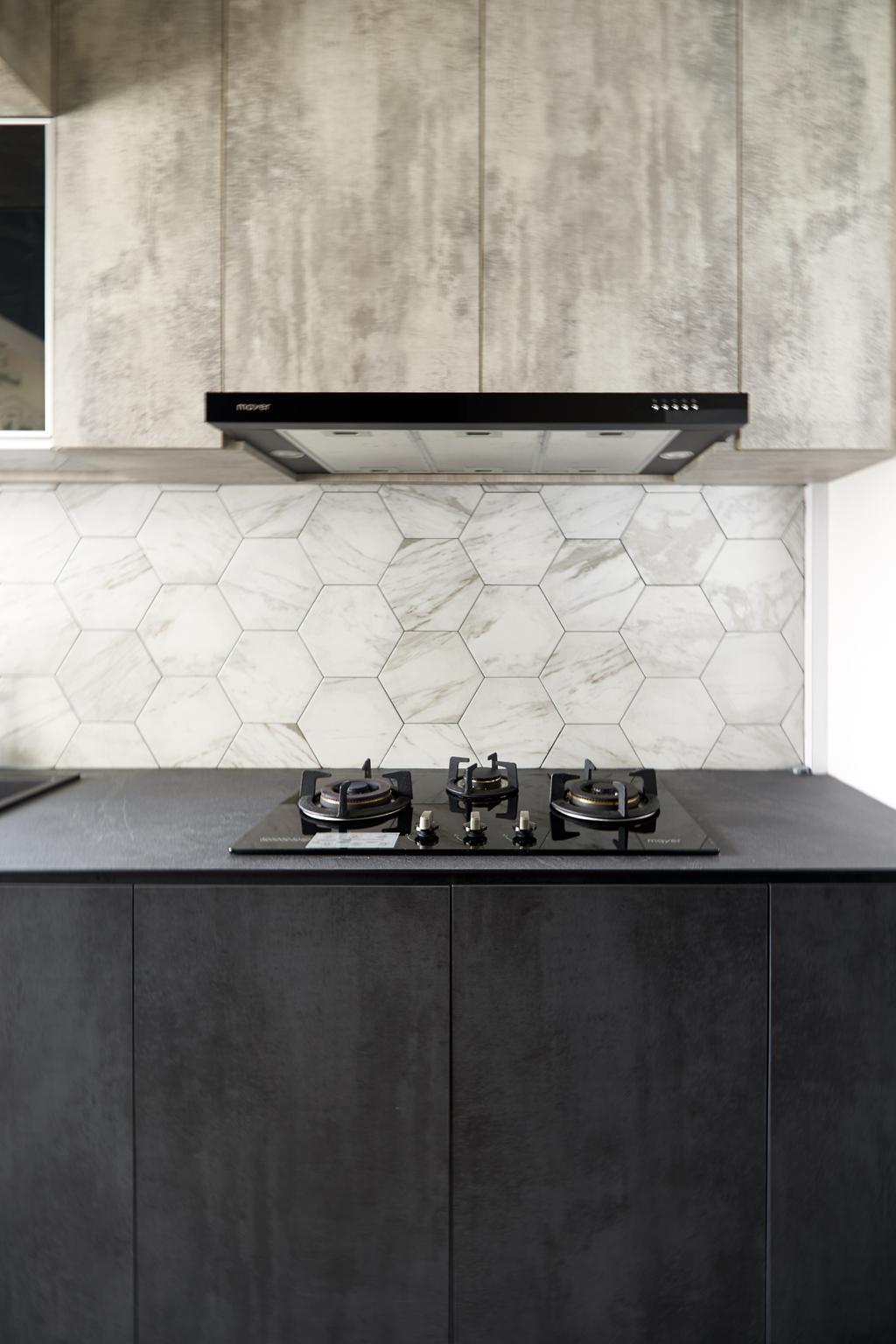 Contemporary, HDB, Kitchen, Punggol Central, Interior Designer, Le Interior Affairs