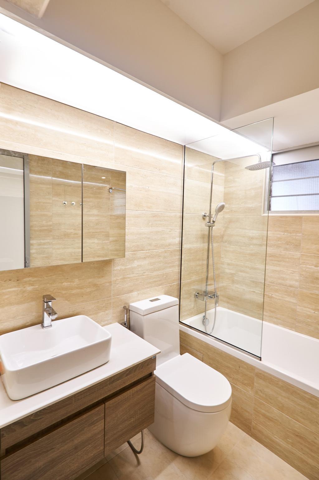 Contemporary, HDB, Bathroom, Punggol Central, Interior Designer, Le Interior Affairs