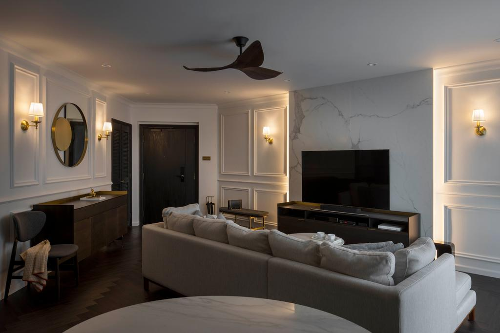 Contemporary, Condo, Living Room, Regentville, Interior Designer, Fifth Avenue Interior