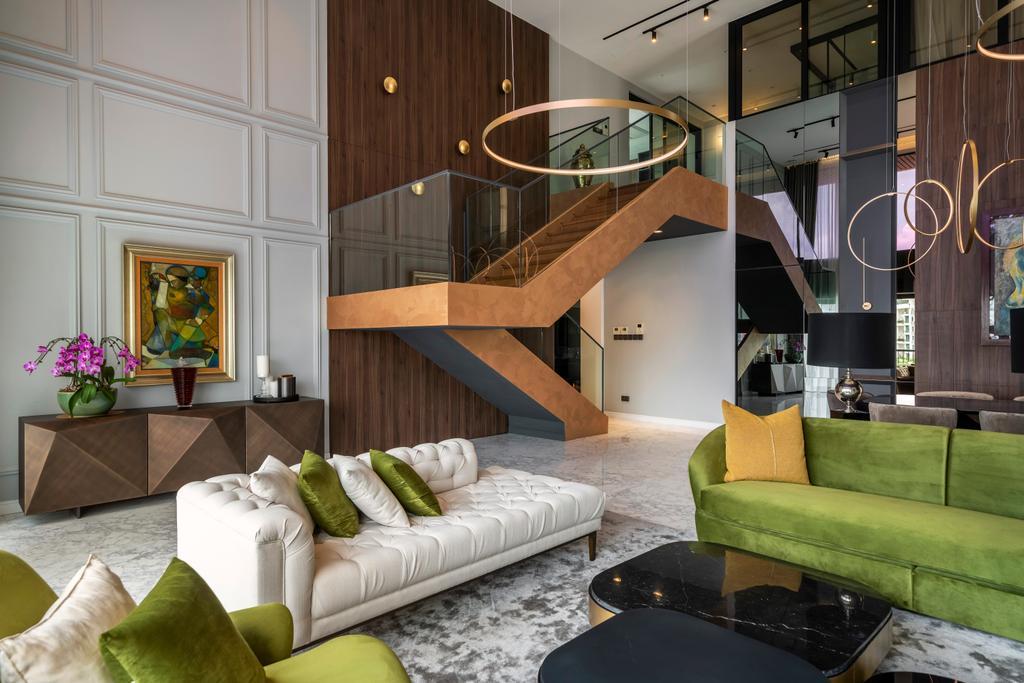Modern, Condo, Living Room, Yong An Park, Interior Designer, Livspace, Contemporary