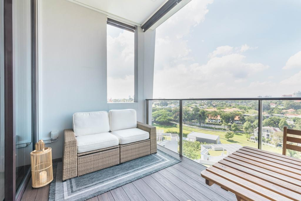 Modern, Condo, Balcony, The Crest, Interior Designer, Livspace, Scandinavian