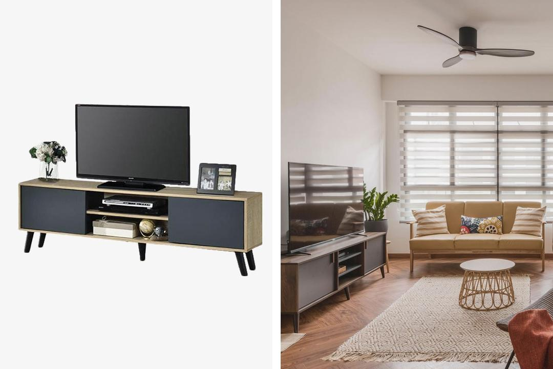 VHIVE Life TV Cabinet Shopee Qanvast Picks