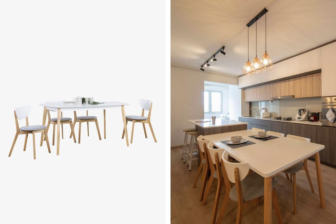 Aimon 1.5M Dining Table Set Shopee Qanvast Picks