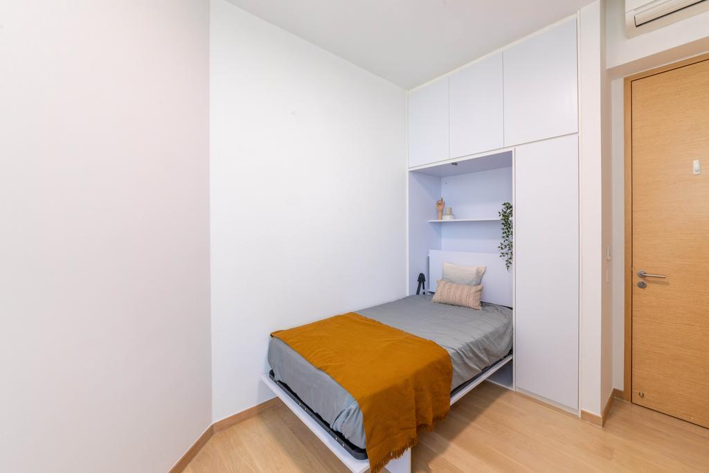 Modern, Condo, Bedroom, The Crest, Interior Designer, Livspace, Scandinavian